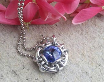 Conjure Chainmaille Pendant Tanzanite