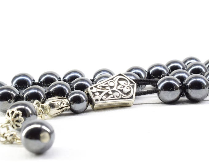 Hematite Komboloi, Worry Beads, Hematite Stone, Greek Komboloi, Hematite Gemstone, Stress Relief, Gift for Him, Made in Greece, Tesbih,