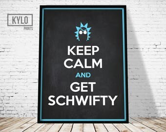 Rick and Morty, Get Schwifty, Rick and Morty Art, Digital Print, Rick and Morty Poster, TV Poster, Fan Gift, Rick and Morty Print, Wall Art