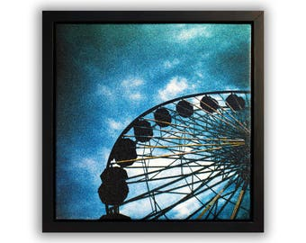 "Fine Art Photography ""Pacific Park"" Framed Stretched Canvas"