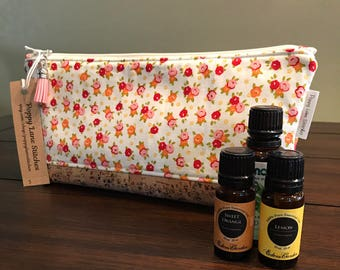 Perfect Essential Oil Pouch / Multi floral Essential Oil bag