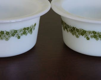2 Vintage Pyrex Corning Spring Blossom Butter Dish without Lids