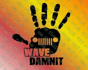 SVG Jeep Wave Dammit Damnit Instant Download