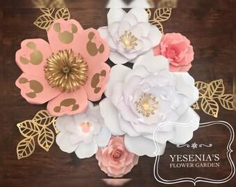 M Mouse Paper Flower Set