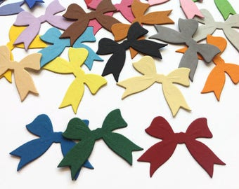 Bow Die Cuts, Colorful Quality Cardstock Paper Bows for Cardmaking, Scrapbooking & Table  Decorations
