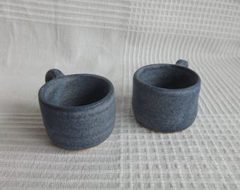 Speckled Deep Blue Espresso Cups