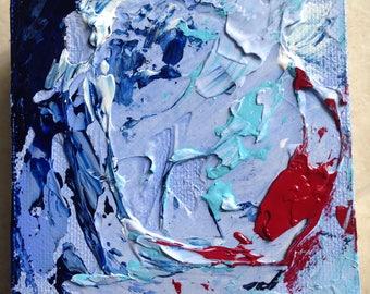 4x4, texture, modern art, contemporary art, original art, tiny painting, acrylic painting, abstract art