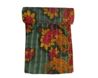 Vintage GYPSY Kantha Quilt  Kantha Throw Reversible Kantha Quilt
