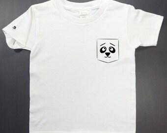 Toddler T-shirt, Panda, white, kid,