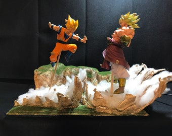 Custom Dragon Ball Z Son Goku versus Broly Led lamp Second Coming orb