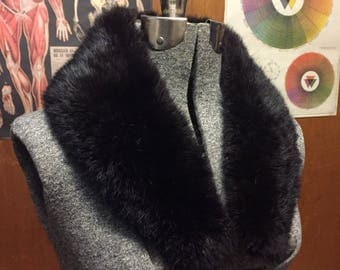 Vintage Black Fur Collar