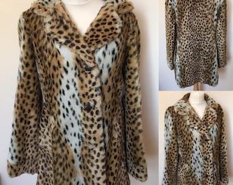 Vintage Ross Furriers Faux Fur Coat - UK Size 14/US Size 10