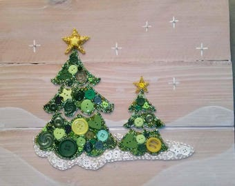 XMAS TREE BUTTONART