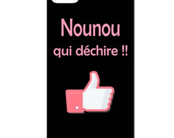 Phone case 3D - nanny that rocks! IPhone 4 / 4s - 5 / 5 S - 5 c - 6 / 6 S - 6 more-7/8-7-white or black