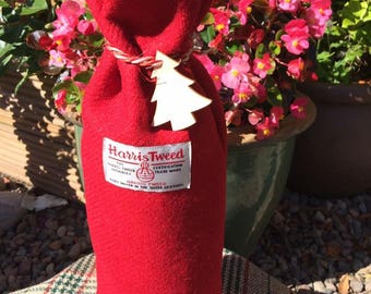 Harris Tweed Christmas Bottle Bag
