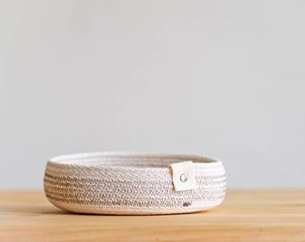 Rope Basket with Cotton Twill Closure - Charcoal + Light Gray