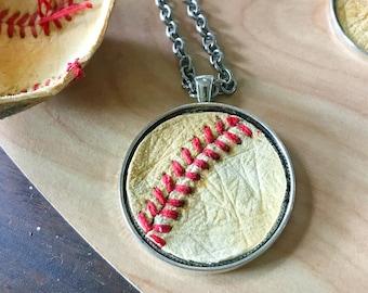 Baseball Necklace, Vintage Baseball, Sports Necklace, Baseball Mom