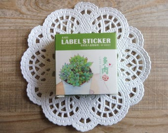 Stickers 40 piece set in assorted designs small plants number (32)