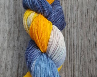 "Hand-Dyed Superwash Wool/Nylon Sock Yarn - ""Litchfield Beach"""