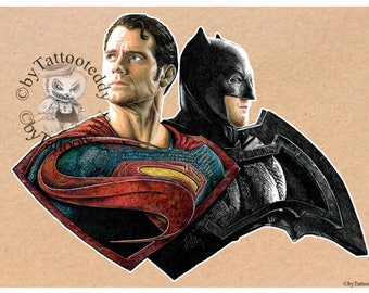 Superman vs. Batman 2017 - Fine Art Print - A4/A3