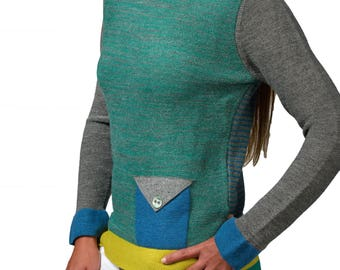 Color Neck sweater