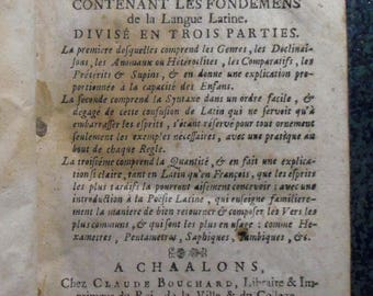 Rare Le Petit Behourt or new Despautere foundations Latin language 1749