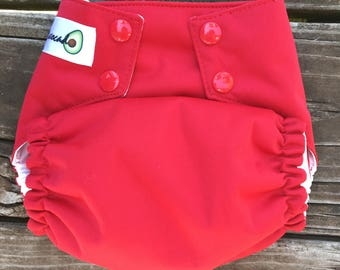 OMMO One Size Cloth Diaper Red