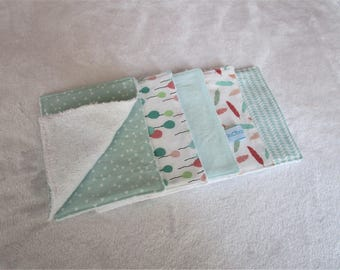 Set of 10 wipes/Washcloths in cotton and bamboo tones Mint green Terry