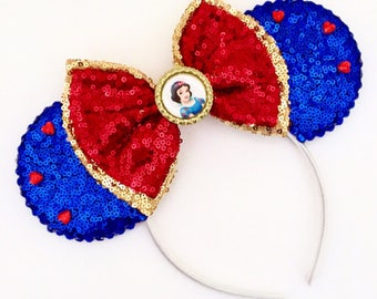 The Snow  - Handmade Mouse Ears Headband