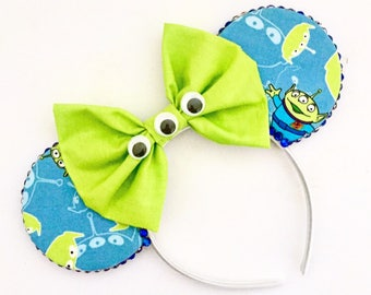 The Green Aliens - Handmade Toy Story Inspired Mouse Ears Headband