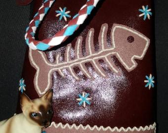 chimayo leather handmade  repro vintage handbag rockabilly