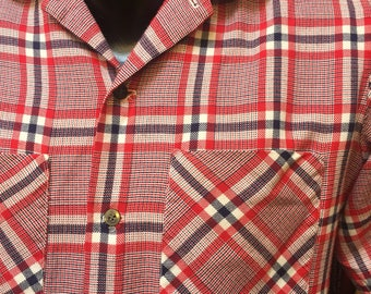 White, blue and red: a 1950s gabardine/flannel hybrid