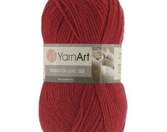YarnArt MERINO DE LUXE 50 - wool yarn - choose colour - blanded wool acrylic yarn - half wool yarn - winter yarn - soft yarn - warm yarn