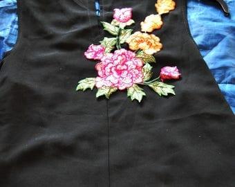 Applique sewing chest 26mx19cm pink flower