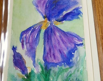 Iris painting, floral watercolor, flower watercolor, blank thank you card, all occasion cards, blank greeting cards, love cards, iris flower