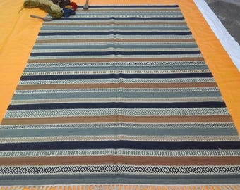 RohitFineRug -Indian Handmade Hand Loom Weave Stitching Dhurries Size 6x9 Shipping Free.