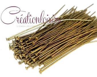 50 nails / pins with flat head - long. 50 mm - bronze