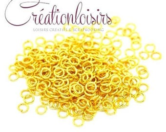 100 5 mm color gold nickel free jump rings