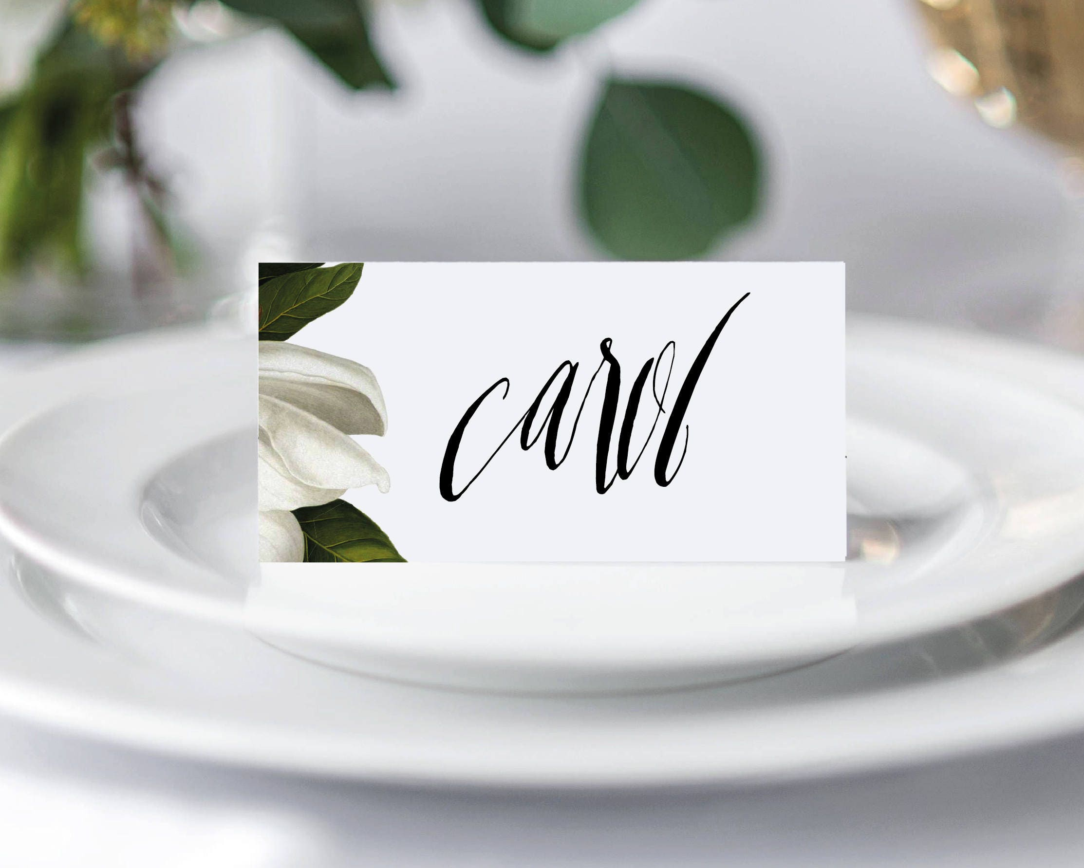 MAGNOLIA Printable DIY Place Cards Wedding Place Cards Wedding