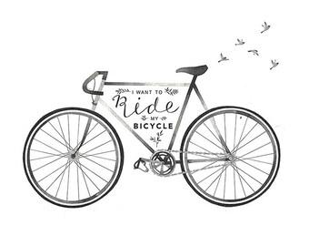 Bike Print | Bike Gift | Bike Lover Gift | Bike Art | Bike Illustration