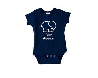 Personalized Elephant Onesie