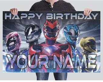 BANNER - Power Rangers Party Banner