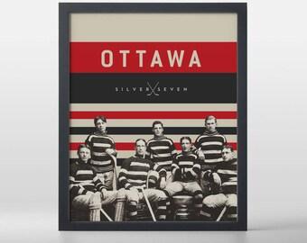 Ottawa Silver Seven Hockey Art Print