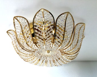 Palwa ceiling or wall lamp with crystal beads mid century Modern