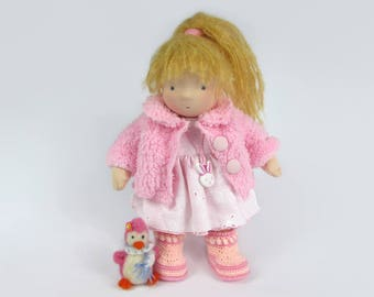 Waldorf Doll with Baby Penguin
