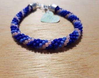 Colbalt Blue Crochet Bracelet