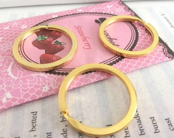 wholesale 100 Pieces /Lot Antique Gold Plated 30mm key ring