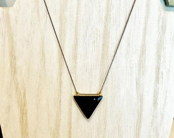 Onyx Trillion Necklace