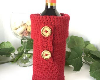 Crochet Wine Bottle Cover, Crochet Cozy, Crochet Koozie, Champagne Cozy, Wine Gift, Wine Bag Gift, Wine Bottle Cover, Crochet Bottle Bag