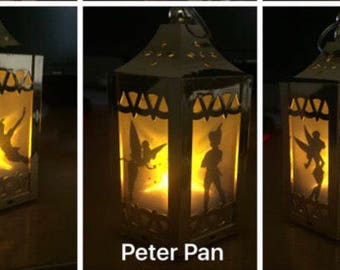 Peter Pan Inspired - Battery-Operated Plastic Mini Lanterns (Gold)